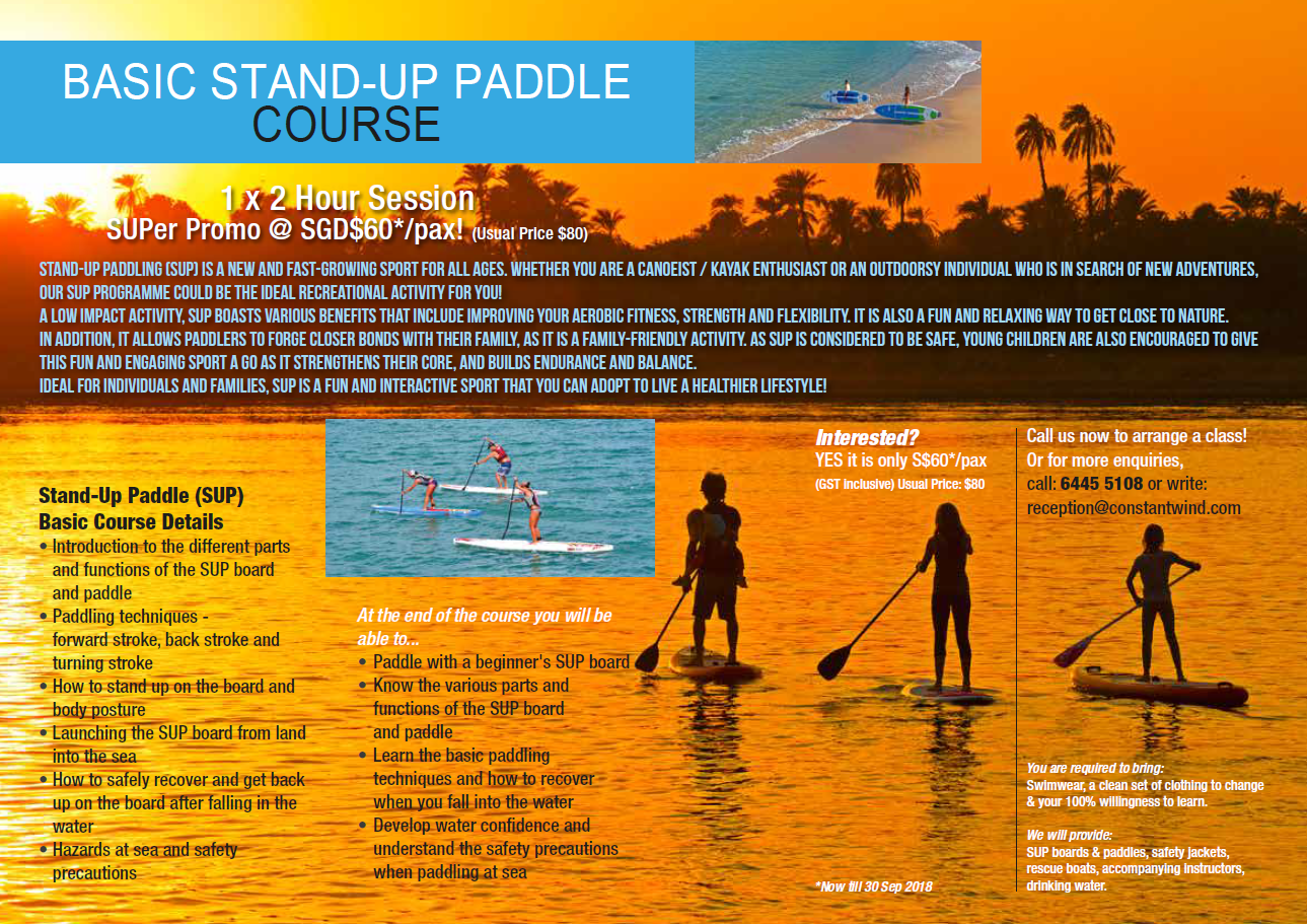 Stand Up Paddling Basic Course